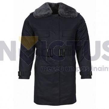 Scurtă din tercot cu mesadă și guler blană femei - Jandarmi - 102029