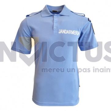 Tricou polo Jandarmerie bleu, bleumarin cu serigrafie și emblemă - 102039