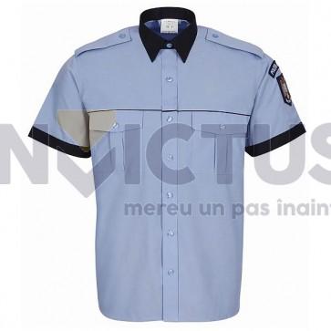 Cămașă bluză gri-bleu cu mânecă scurtă-Politie - 104007