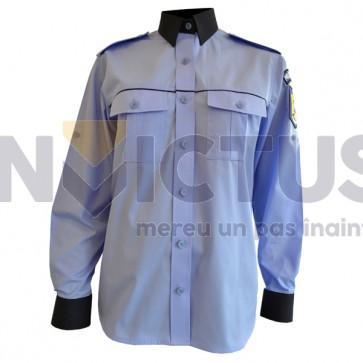 Cămașă bluză gri-bleu cu mânecă lungă femei Poliție - 104009