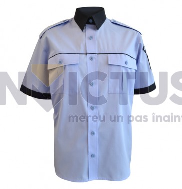 Cămașă bluză gri-bleu cu mânecă scurtă femei - Poliție - 104021