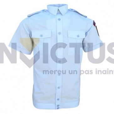 Camasa bluza maneca scurta cu banda la terminatie femei - 103039