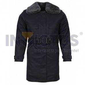 Scurtă din tercot cu mesadă și guler blană bărbați - Jandarmi - 102023