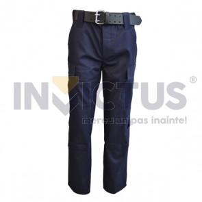 Pantalon costum de culoare bleumarin - 123009