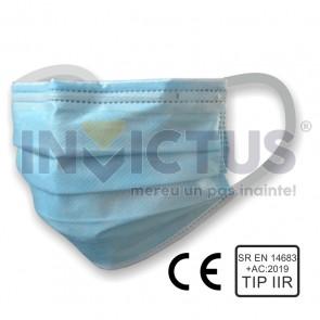 Mască de protecție cu 3 pliuri de unică folosință - 238902